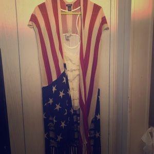 Americana short sleeved cardigan